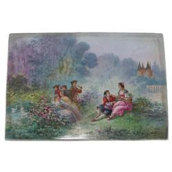 CARLUS  Renaissance Courting Scene Plaque #2381618