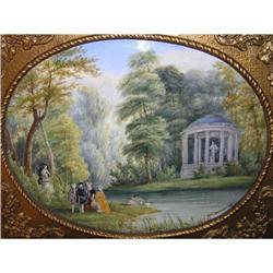 Jean GAUVIN 1879 Versailles Garden Plaque #2381619