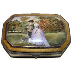 French DECO Porcelain Dresser Box #2381628