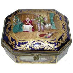 Antique ROBERT Sevres Porcelain Dresser Box #2381631