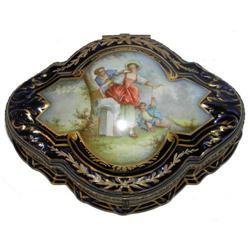 Sevres Style Porcelain Dresser Box #2381632