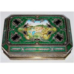 Gilt Enamelled Sterling Silver Dresser Box #2381634