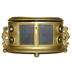 Ormolu Metal Pietra Dura Dresser Box #2381635