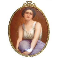 Porcelain Plaque Portrait After Adolphe Piot #2381640
