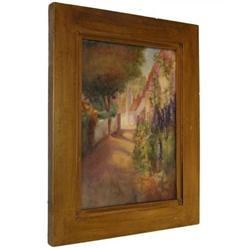 Impressionist Landscape Painting on Porcelain #2381642