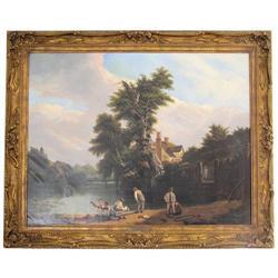 Jacques Laurent Agasse Figural Landscape #2381652