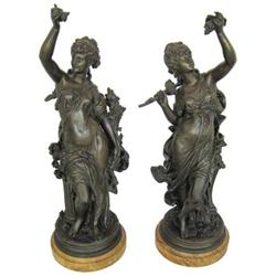 La Vigne Bronze Sculptures After Moreau #2381658