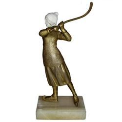 OMERTH Bronze Ice Hockey Player  Figurine #2381667