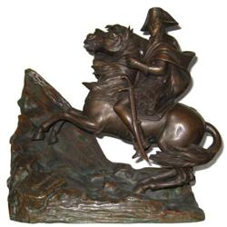 Napoleon Crossing Alps Bronze After David #2381678