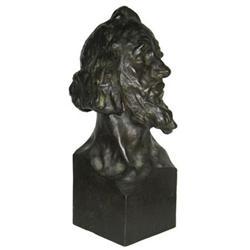 Czech Franta Anyz Bronze Male Bust Sculpture #2381682