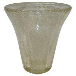 """11"""" Daum Nancy Golden Glass Vase #2381684"""
