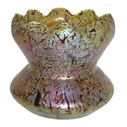 Large Kralik Iridescent Glass Vase #2381687