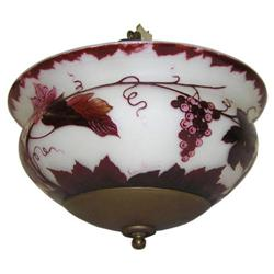 Loetz Cameo Glass Hanging Ceiling Lamp #2381692