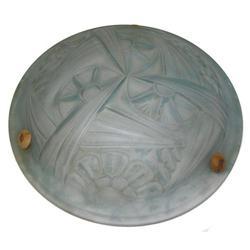 Degue Art Deco Glass Plafonnier Lamp #2381693