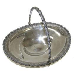 c1860 Antique Tiffany Sterling Silver Basket #2381694