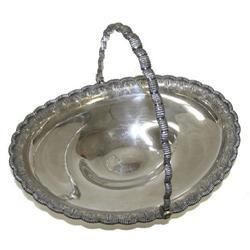 c1860 Antique Tiffany Sterling Silver Basket #2381694