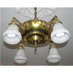 Vintage 4-Light Brass Chandelier #2381702