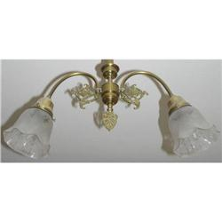 Vintage 2-Light Chandelier Ceiling Fixture #2381703