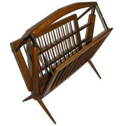 Mid-Century Modern Wooden Magazine Rack #2381707