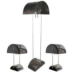 Pierre Cardin Floor Lamp & (2) Table Lamps #2381712