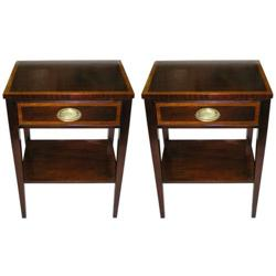 Pair Federal Regency Style Side End Tables #2381721