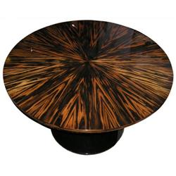 Macassar Round Center or Dining Table #2381726