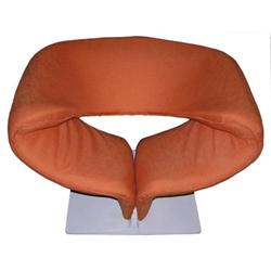 1960s Orange Pierre Paulin Ribbon Chair #2381727