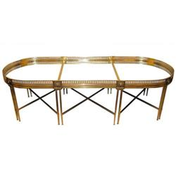 Empire Style Bronze Mirrored Coffee Table #2381728