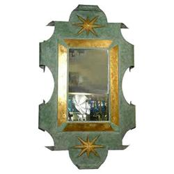 Patinated Metal Mirror After Arbus & Poillerat #2381732