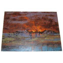 RICHARD FLORSHEIM Sunset Landscape #2381737