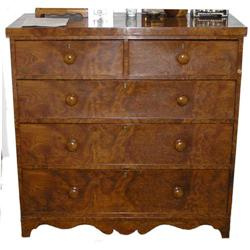 Antique Figured Walnut Chest of Drawers #2381742