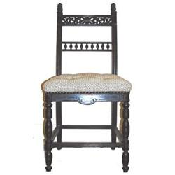 Victorian Aesthetic Ebonized Side Chair #2381743