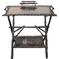 Antique Japanned Asian Lacquered Twig Table #2381748