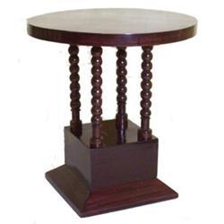 Art Deco Mahogany Pedestal Side Table #2381755
