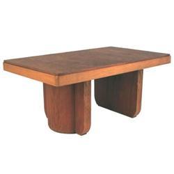 French Art Deco Mahogany Dining Table #2381756