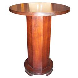 French Art Deco Red Mahogany Side Table #2381757
