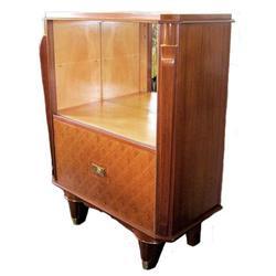 Jules Leleu Art Deco Liquor Bar Cabinet #2381761