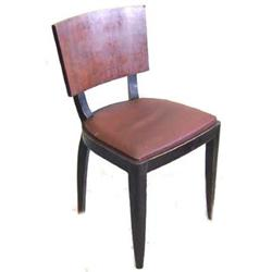 Set 6 French Art Deco Walnut Dining Chairs #2381763