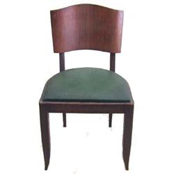 Set 6 French Art Deco Mahogany Dining Chairs #2381764
