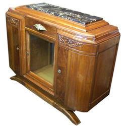 c1930s French Art Deco Walnut Sideboard #2381766