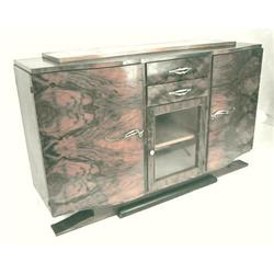 French Art Deco Figured Walnut Sideboard #2381768