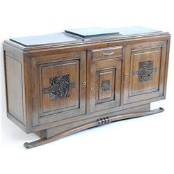 French Art Deco Walnut Sideboard Buffet #2381771