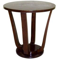 Antique French Art Deco Bentwood Side Table #2381776