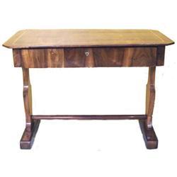 Antique Empire or Biedermeier Walnut Desk #2381780