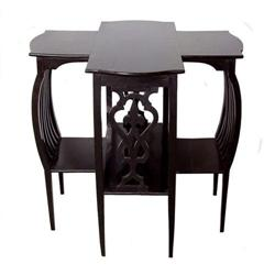 Secessionist Ebonized Chestnut Table #2381786