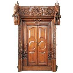 Antique Indian Lakshmi Hindu Temple Door #2381788