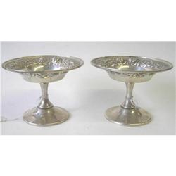 Pair Stieff Baltimore Sterling Compotes #2381805