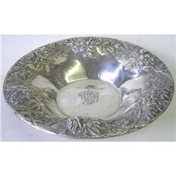 S Kirk & Son Sterling Silver Repousse Platter #2381806