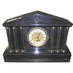 Black Slate Neoclassical Mantle Clock #2381807