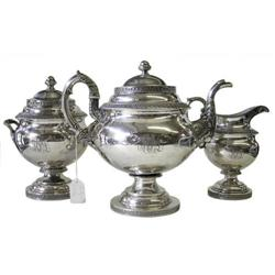 1840 Bailey & Kitchen Silver Tea Set #2381815